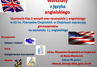 Warsztaty z języka angielskiego
