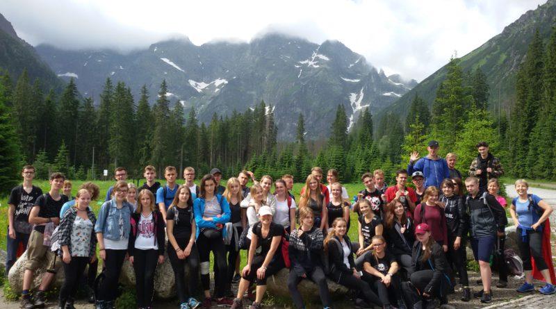 Wycieczka szkolna w Tatry klasy II D: