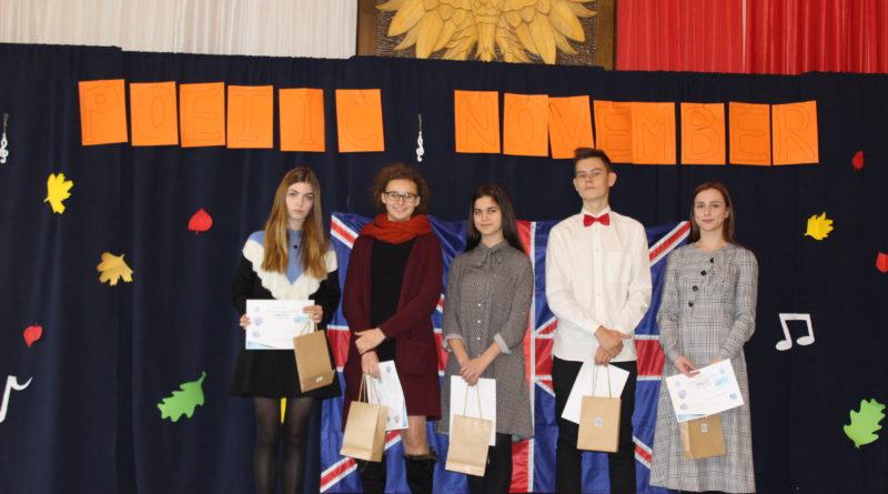 """II Konkurs Recytatorski Poezji Angielskiej""""Poetycki Listopad"""" –,,Poetic November"""""""