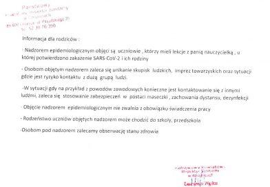 Informacja Państwowego Inspektora Sanitarnego w Chojnicach.