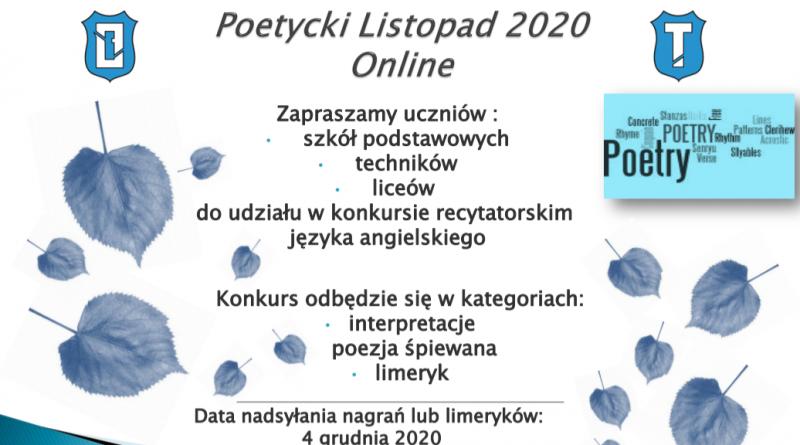Poetycki Listopad 2020 Online