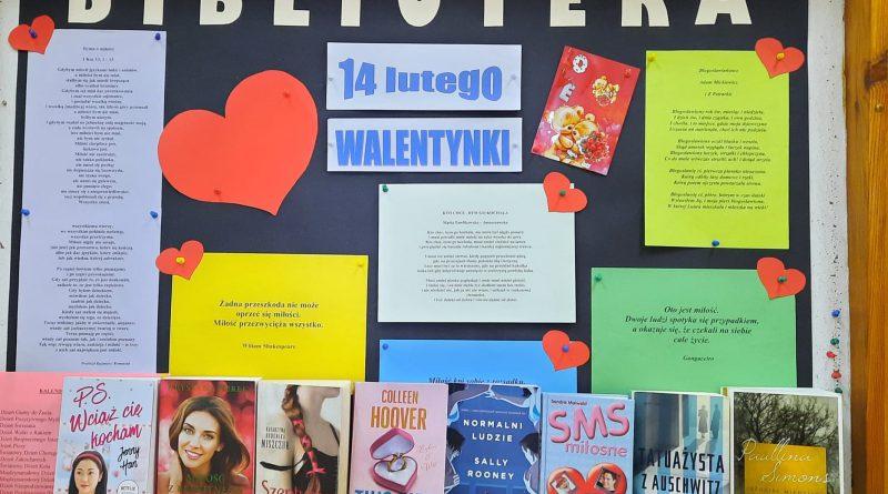 Walentynkowe propozycje biblioteki szkolnej